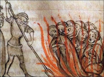 Resultado de imagen de herejes quemados